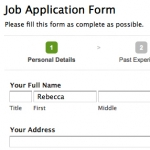 1. Applicant fills in the form