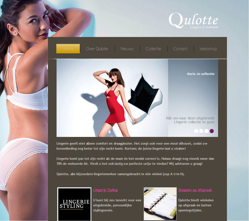 <h2>Lingerie website</h2>