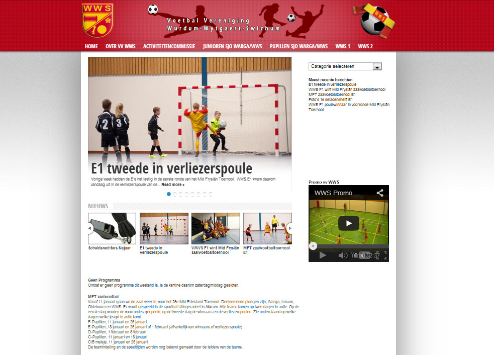 <h2>Football club website</h2>